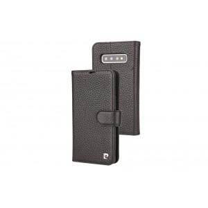 Pierre Cardin Classic Echtleder Tasche Samsung Galaxy S10+ Plus Schwarz