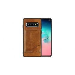 Pierre Cardin Card Case / Hülle für Samsung Galaxy S10 Braun Echtleder
