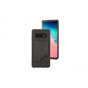 Pierre Cardin Card Case / Hülle für Samsung Galaxy S10+ Plus Schwarz Echtleder