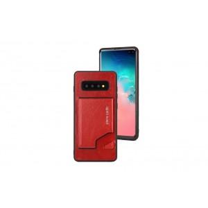 Pierre Cardin Card Case / Hülle für Samsung Galaxy S10+ Plus Rot Echtleder