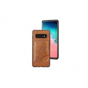 Pierre Cardin Card Case / Hülle für Samsung Galaxy S10+ Plus Braun Echtleder