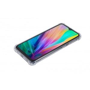 Silikon Hülle mit Kantenschutz für Samsung Galaxy A30 Transparent