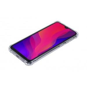 Silikon Hülle mit Kantenschutz für Samsung Galaxy A50 Transparent