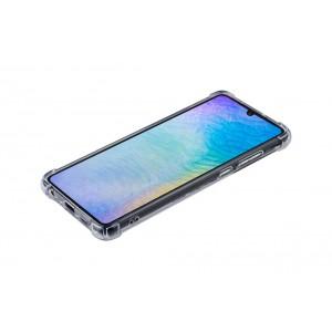Silikon Hülle mit Kantenschutz für Huawei P30 Transparent