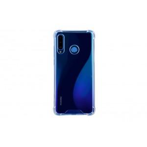 Silikon Hülle mit Kantenschutz für Huawei P30 Lite Transparent