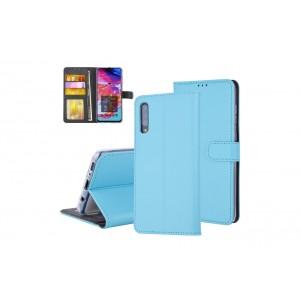 Tasche für Samsung Galaxy A70 Aufstellfunktion + Kartenfach Blau