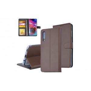 Handytasche / Handyhülle für Samsung Galaxy A70 2019 Braun