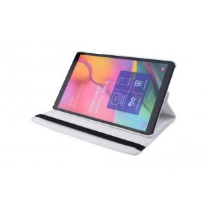 Tasche / Book Case für Samsung Galaxy Tab A T515 (2019) 360° drehbar Weiß