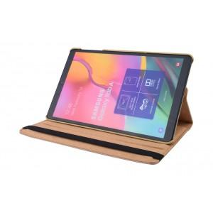 Tasche / Book Case für Samsung Galaxy Tab A T515 (2019) 360° drehbar Gold