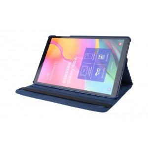 Tasche / Book Case für Samsung Galaxy Tab A T515 (2019) 360° drehbar Dunkel Blau