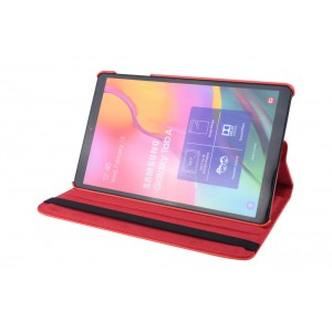 Tasche / Book Case für Samsung Galaxy Tab A T515 (2019) 360° drehbar Rot