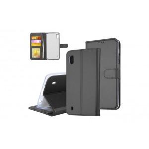 Tasche für Samsung Galaxy A10 Aufstellfunktion + Kartenfach Schwarz