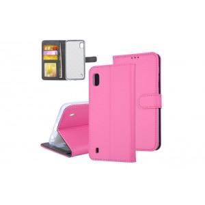 Tasche für Samsung Galaxy A10 Aufstellfunktion + Kartenfach Pink