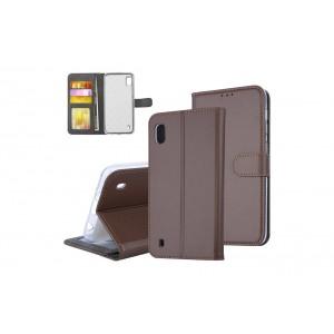 Tasche für Samsung Galaxy A10 Aufstellfunktion + Kartenfach Braun
