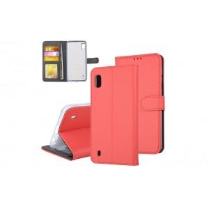 Tasche für Samsung Galaxy A10 Aufstellfunktion + Kartenfach Rot