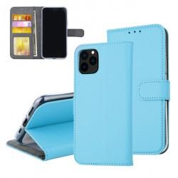 Blaue Ledertasche für iPhone 11 mit Aufstellfunktion + Kartenfach