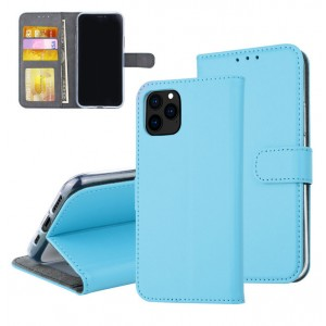 Blaue Ledertasche für iPhone 11 Pro mit Aufstellfunktion + Kartenfach