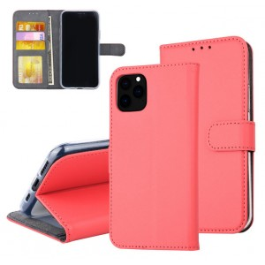 Rote Ledertasche für iPhone 11 Pro Max mit Aufstellfunktion + Kartenfach