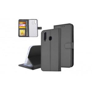 Tasche für Samsung Galaxy A8s Aufstellfunktion + Kartenfach Schwarz