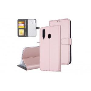 Tasche für Samsung Galaxy A8s Aufstellfunktion + Kartenfach Rose Gold