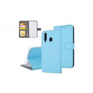 Tasche für Samsung Galaxy A8s Aufstellfunktion + Kartenfach Blau