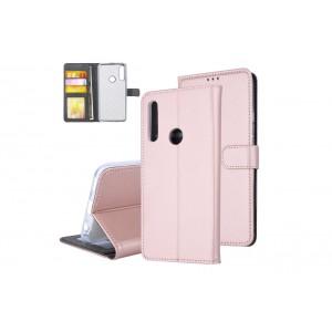 Tasche für Huawei P Smart Z Aufstellfunktion + Kartenfach Rose Gold