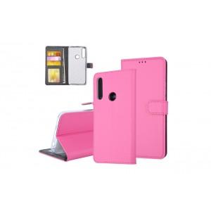 Tasche für Huawei P Smart Z Aufstellfunktion + Kartenfach Pink