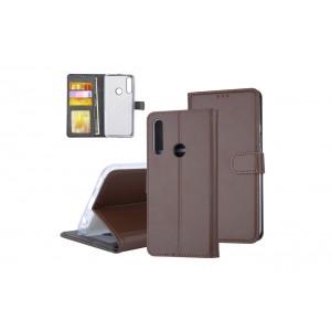 Tasche für Huawei P Smart Z Aufstellfunktion + Kartenfach Braun