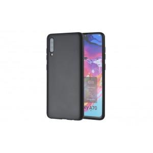 Handyhülle TPU für Samsung Galaxy A70 Schwarz
