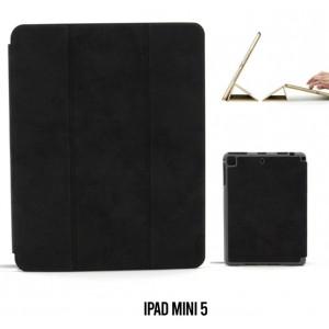 Ledertasche / Schutzhülle SlimFit iPad Mini 5 mit Standfunktion Marmor Schwarz