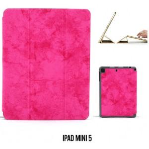 Ledertasche / Schutzhülle SlimFit iPad Mini 5 mit Standfunktion Marmor Pink