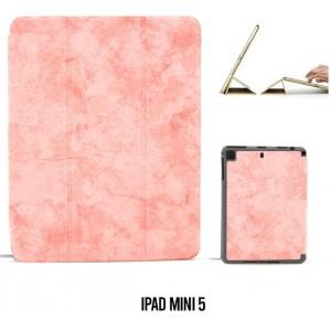 Ledertasche / Schutzhülle SlimFit iPad Mini 5 mit Standfunktion Marmor Rose
