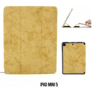 Ledertasche / Schutzhülle SlimFit iPad Mini 5 mit Standfunktion Marmor Braun