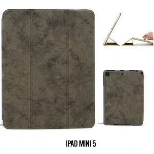 Ledertasche / Schutzhülle SlimFit iPad Mini 5 mit Standfunktion Marmor Grau
