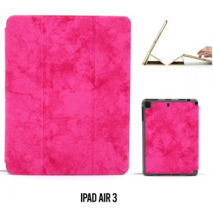 """Ledertasche / Schutzhülle SlimFit iPad Air 3 ( 2019 ) 10,5"""" mit Standfunktion Marmor Pink"""