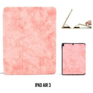 """Ledertasche / Schutzhülle SlimFit iPad Air 3 ( 2019 ) 10,5"""" mit Standfunktion Marmor Rose"""