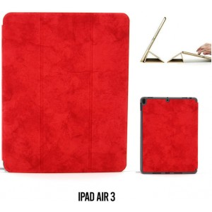 "Ledertasche / Schutzhülle SlimFit iPad Air 3 ( 2019 ) 10,5"" mit Standfunktion Marmor Rot"