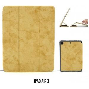 """Ledertasche / Schutzhülle SlimFit iPad Air 3 ( 2019 ) 10,5"""" mit Standfunktion Marmor Braun"""