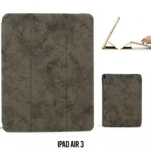 """Ledertasche / Schutzhülle SlimFit iPad Air 3 ( 2019 ) 10,5"""" mit Standfunktion Marmor Grau"""