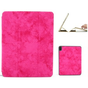 """Ledertasche / Schutzhülle SlimFit iPad Pro 11"""" mit Standfunktion Marmor Pink"""