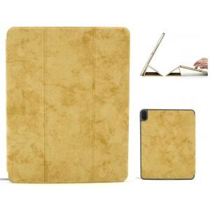 """Ledertasche / Schutzhülle SlimFit iPad Pro 11"""" mit Standfunktion Marmor Braun"""