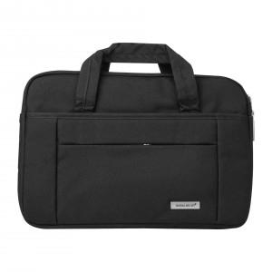 """Slim Notebook / Laptop Tasche bis 11"""" Schwarz + Trolley Gurt"""