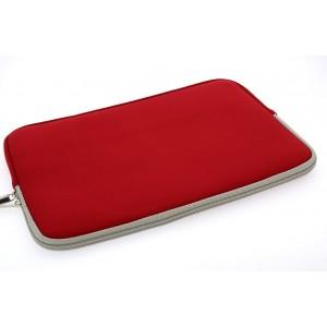 Universal Tasche Neopren Soft Slim für Laptops / Notebooks bis 11,6 Zoll Rot