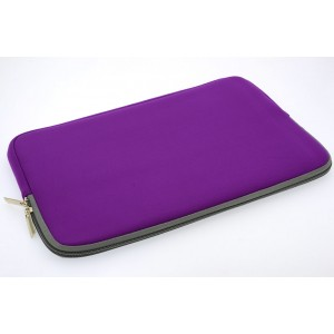 Universal Tasche Neopren Soft Slim für Laptops / Notebooks bis 11,6 Zoll Lila