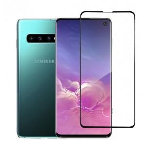 Premium Glas Folie 3D curve für Samsung Galaxy S10 Schwarz