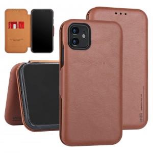 UNIQ Slim Ledertasche iPhone 11 Pro Aufstellfunktion + Kartenfach Braun