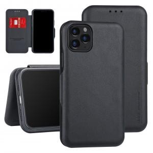 UNIQ Slim Ledertasche iPhone 11 Pro Max Aufstellfunktion + Kartenfach Schwarz