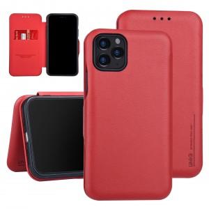 UNIQ Slim Ledertasche iPhone 11 Pro Max Aufstellfunktion + Kartenfach Rot