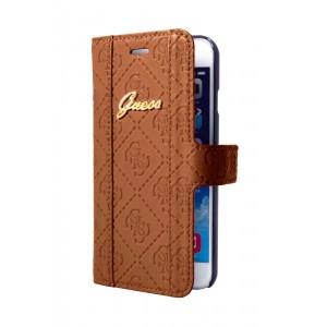 Guess Scarlett Tasche / Book Case für iPhone 6 Plus / 6S Plus Braun