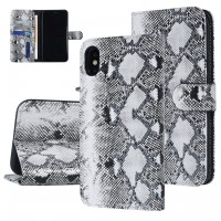 UNIQ 3D Snake Handytasche iPhone X / Xs Schlangenmuster Schwarz / Weiß